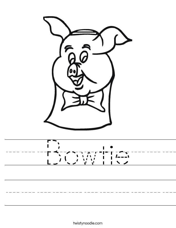 Bowtie Worksheet