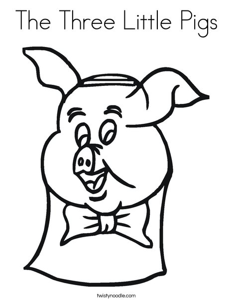 The Three Little Pigs Coloring Page - Twisty Noodle