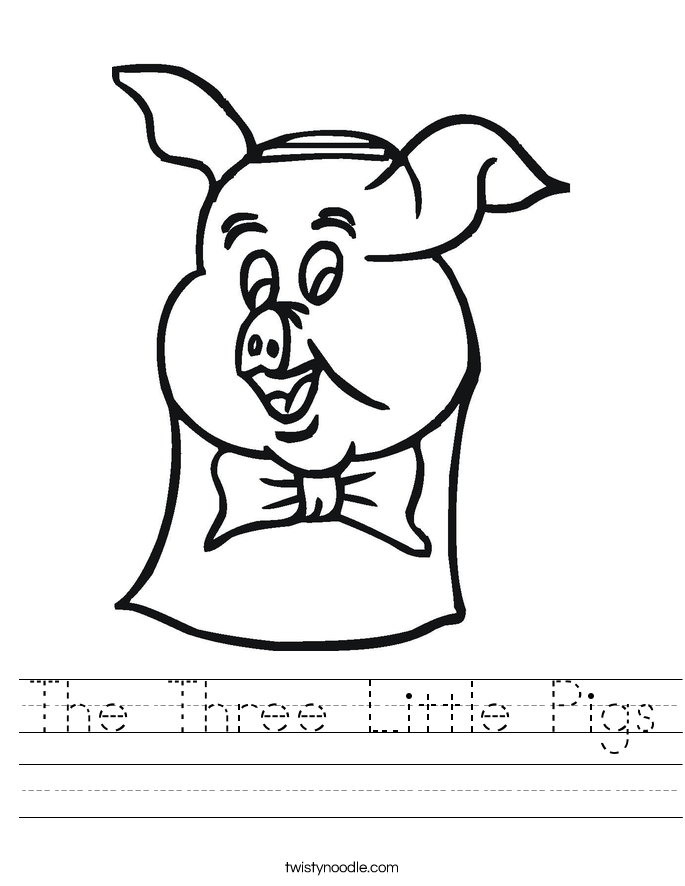 The Three Little Pigs Worksheet