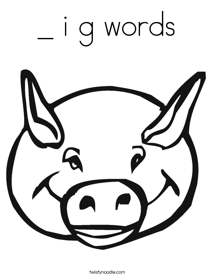 _ i g words Coloring Page