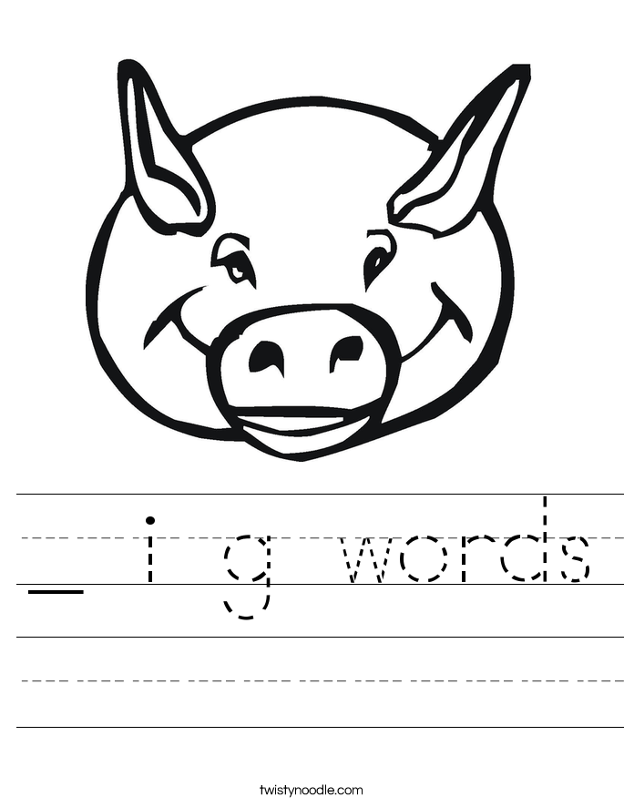 _ i g words Worksheet