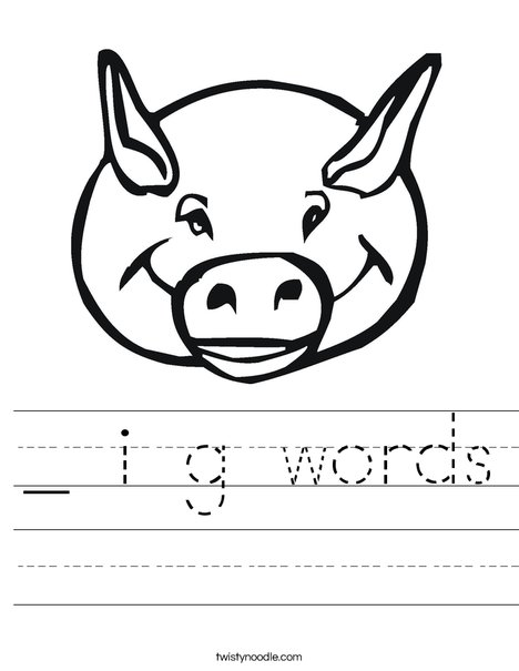 Pig Head Worksheet