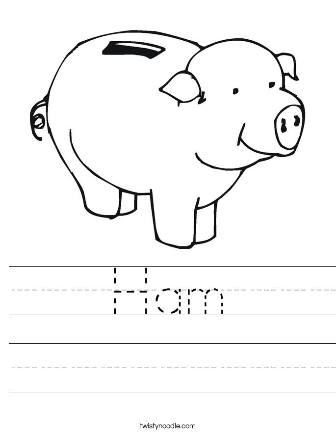 Ham Worksheet