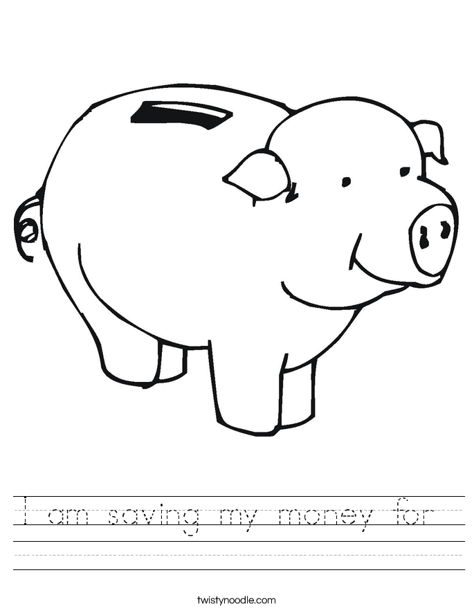 I am saving my money for  Worksheet