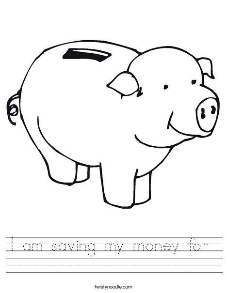 Pig Bank Worksheet