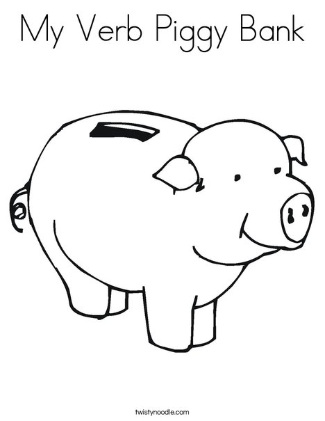 Pig Bank Coloring Page