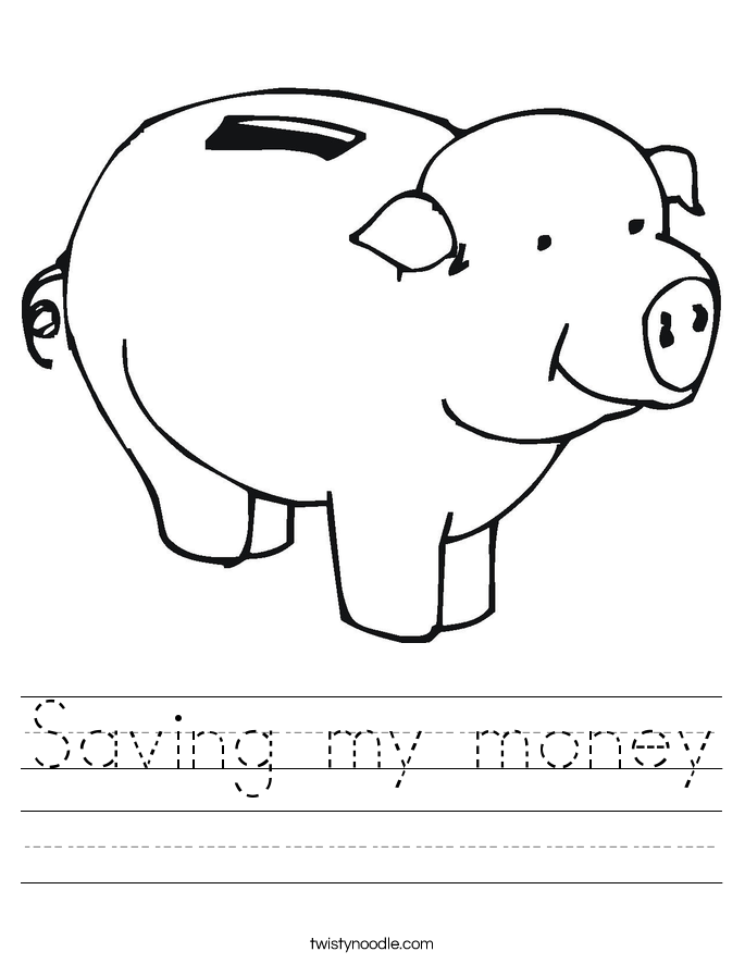 Saving my money Worksheet