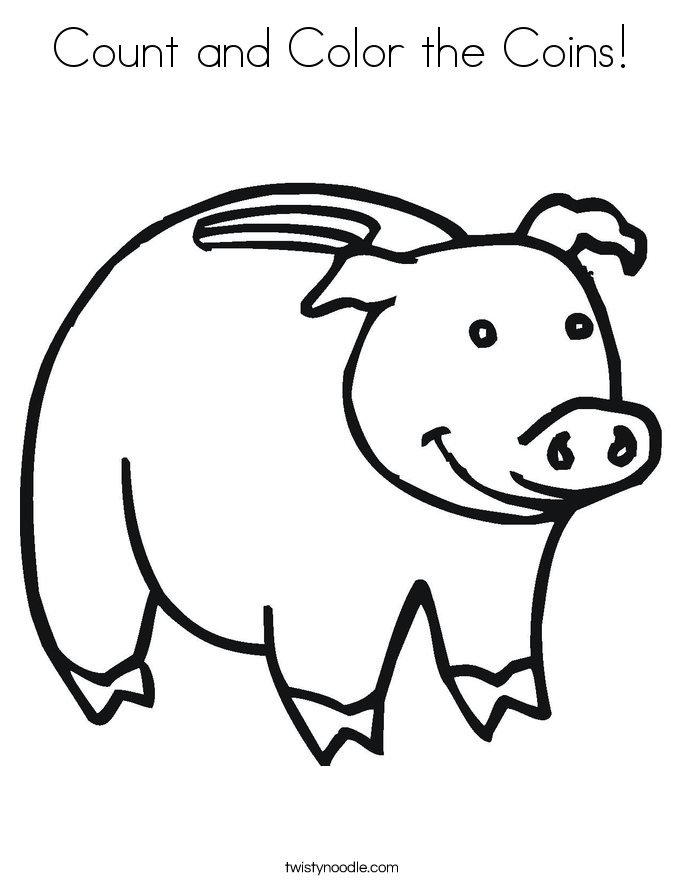 Count and Color the Coins! Coloring Page