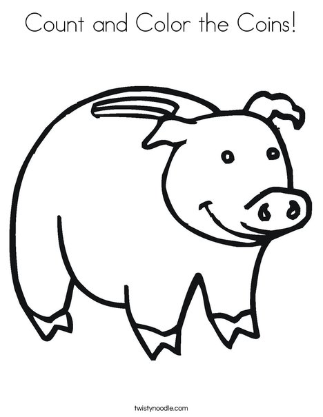 Piggy Bank Coloring Page