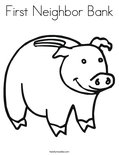 First Neighbor Bank Coloring Page