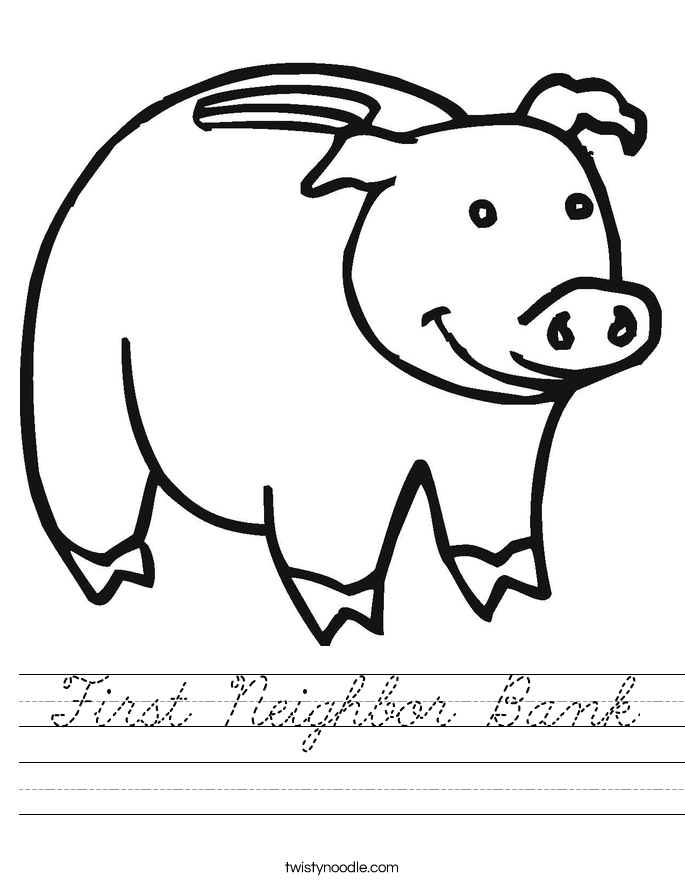 First Neighbor Bank Worksheet