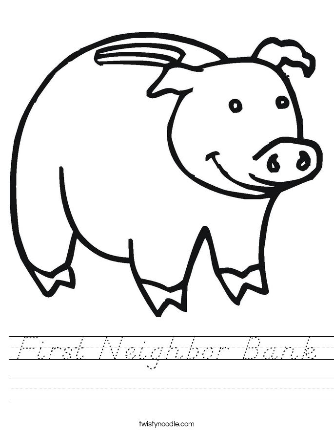 First Neighbor Bank Worksheet