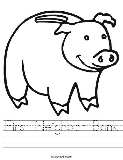 Piggy Bank Worksheet
