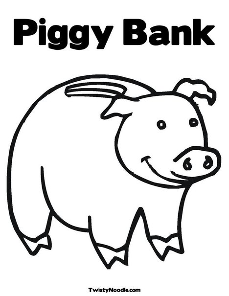 bank coloring pages for kids - bank for coloring pages