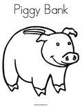 Piggy BankColoring Page