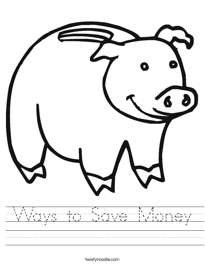Ways to Save Money Worksheet