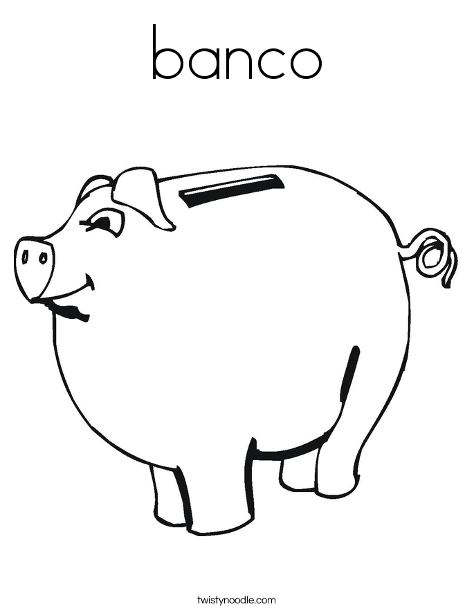 banco Coloring Page