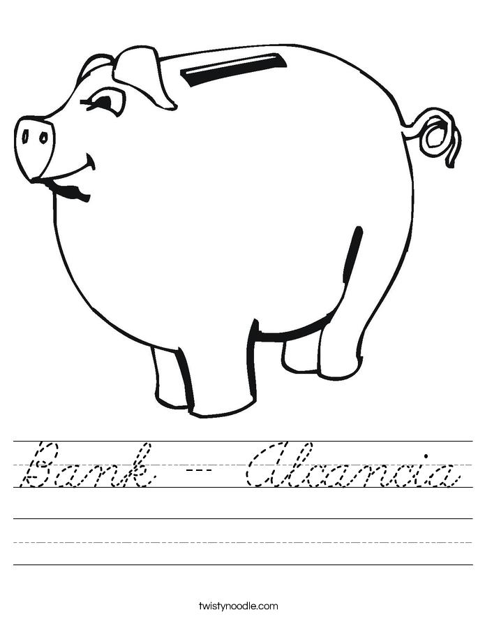 Bank - Alcancia Worksheet