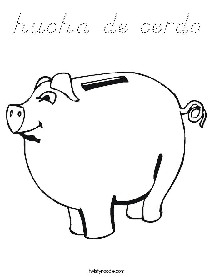 hucha de cerdo Coloring Page