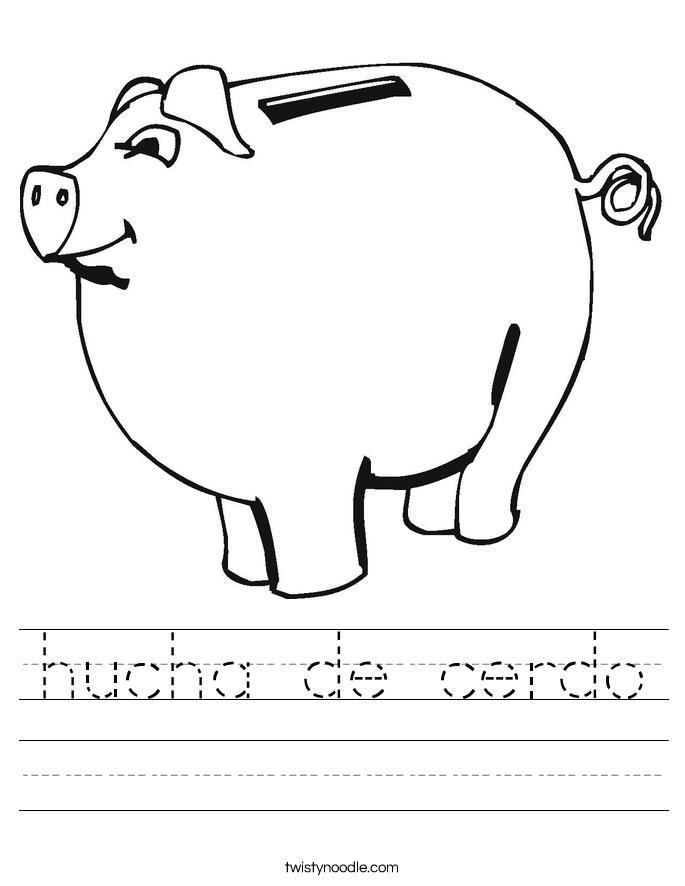 hucha de cerdo Worksheet