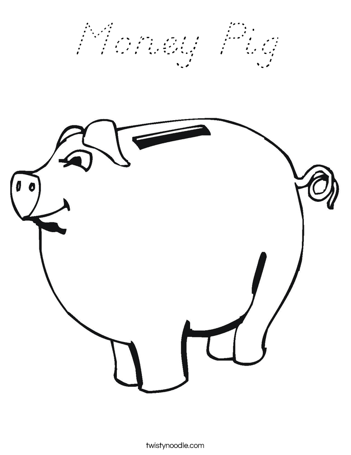 Money Pig Coloring Page