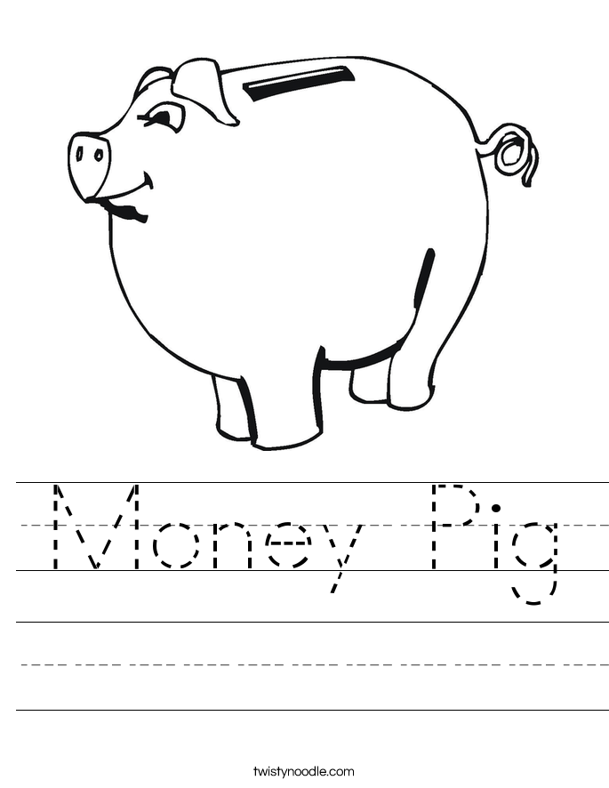 Money Pig Worksheet