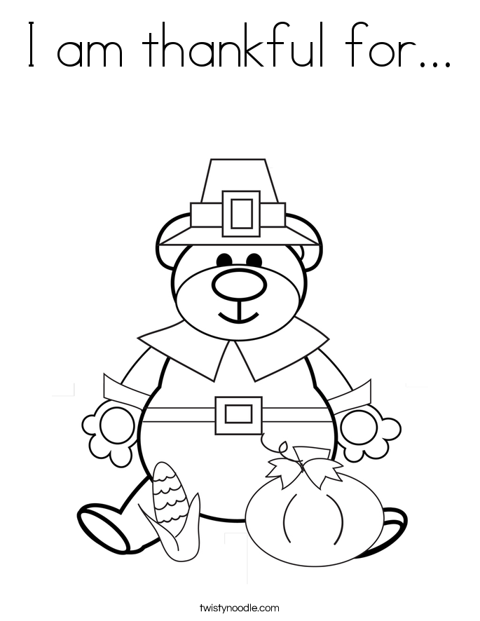 i am thankful coloring pages - photo #12