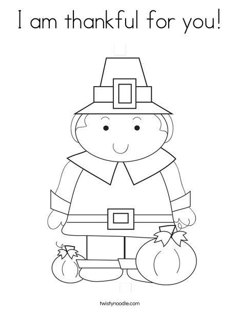 Pilgrim Boy Coloring Page