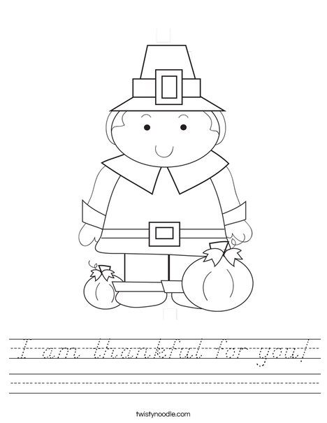 Pilgrim Boy Worksheet