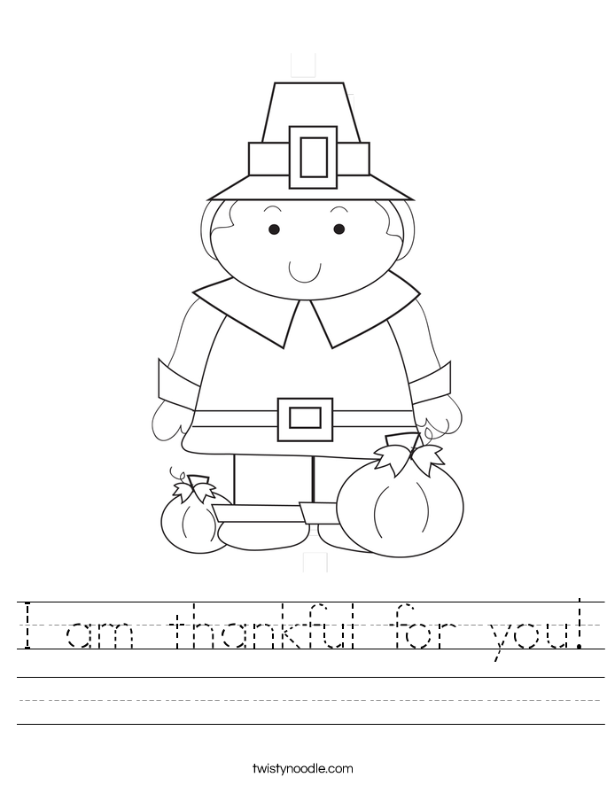 I am thankful for you Worksheet Twisty Noodle – I Am Thankful for Worksheets