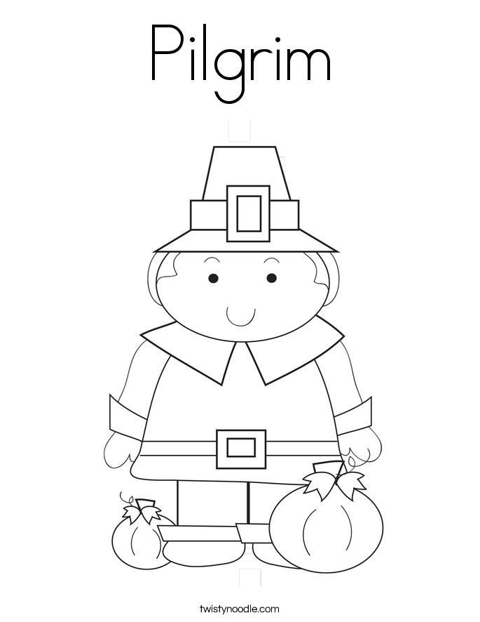 Pilgrim Coloring Page