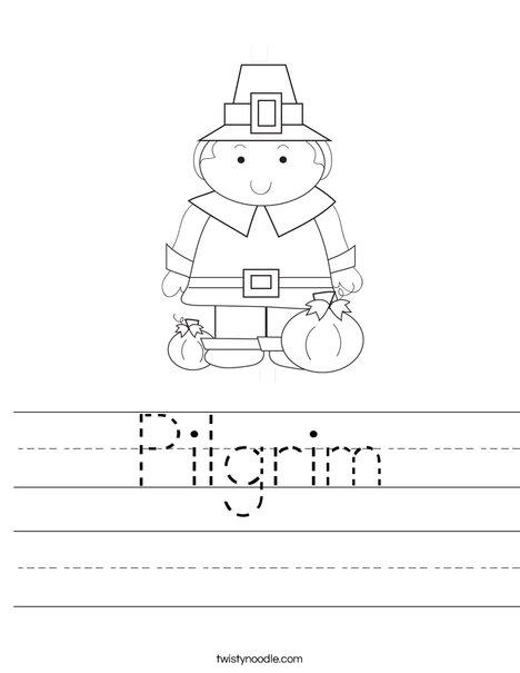 Pilgrim Boy Worksheet