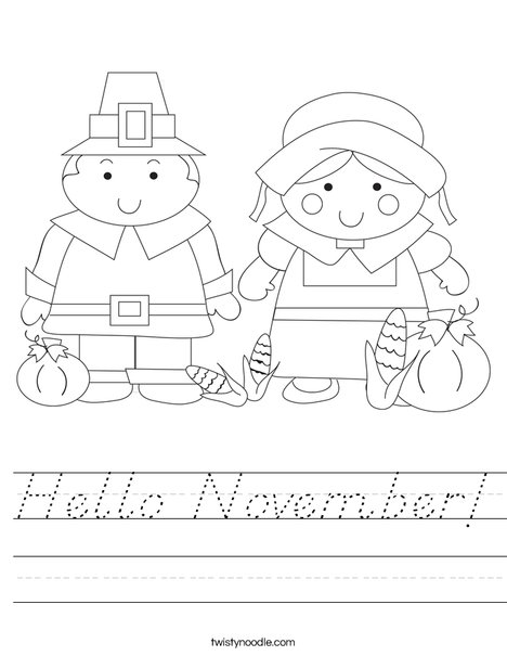 Pilgrim Couple Worksheet