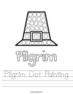 Pilgrim Dot Painting Handwriting Sheet
