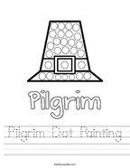Pilgrim Dot Painting Handwriting Sheet