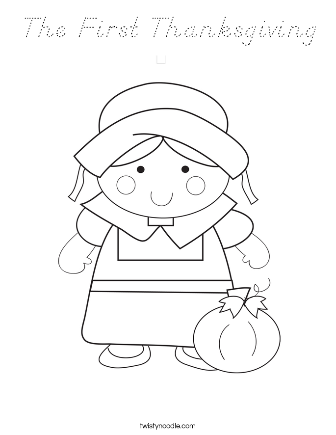 The First Thanksgiving Coloring Page