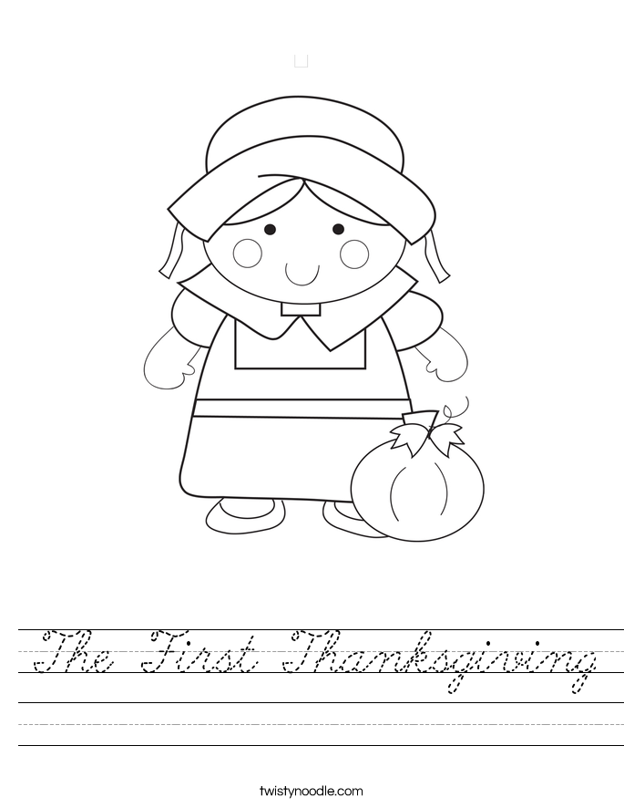 The First Thanksgiving Worksheet