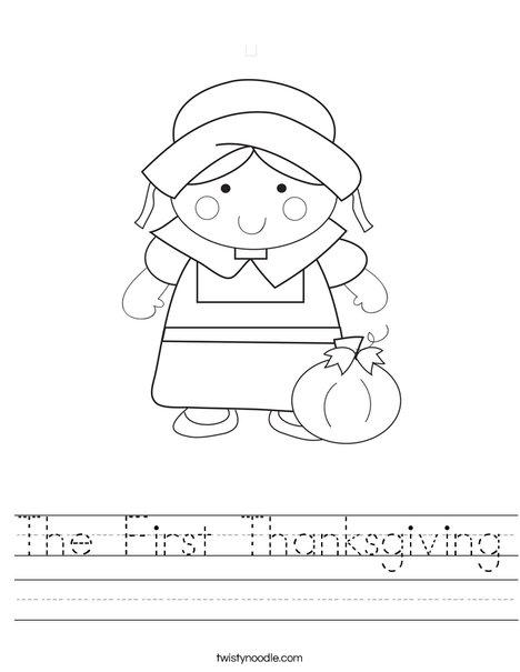 Pilgrim Girl Worksheet
