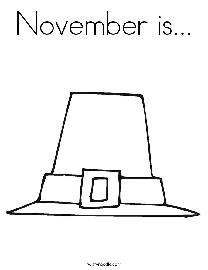 November is... Coloring Page