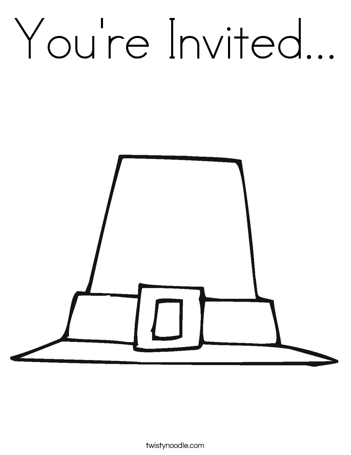 You're Invited... Coloring Page