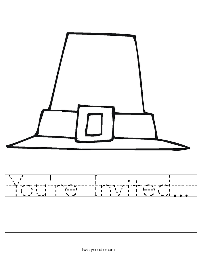 You're Invited... Worksheet