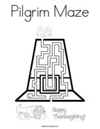 Pilgrim Maze Coloring Page