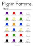 Pilgrim Patterns! Coloring Page