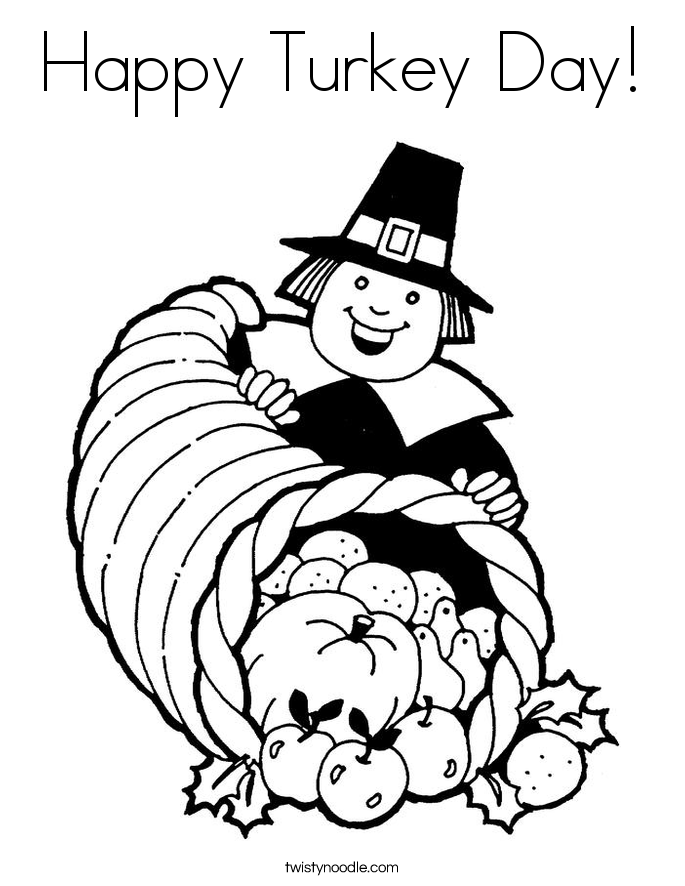 Happy Turkey Day! Coloring Page