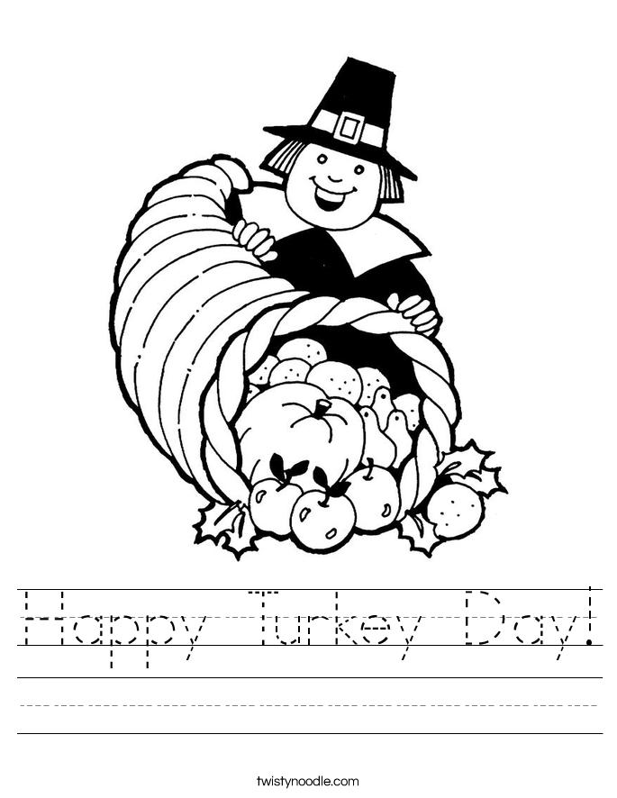 Happy Turkey Day! Worksheet