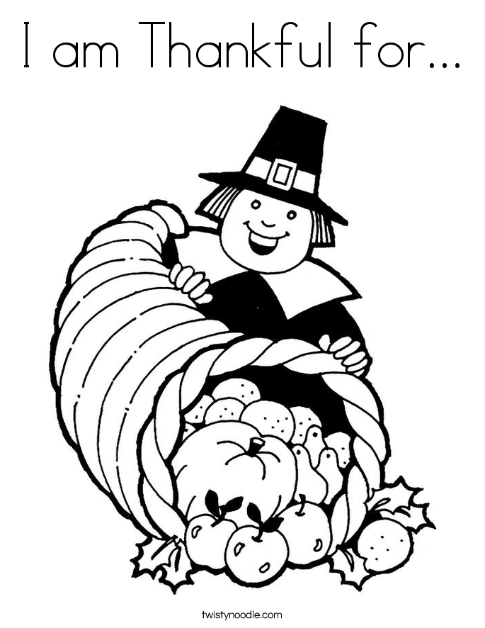 i am thankful coloring pages - photo #36