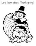 Lets learn about Thanksgiving! Coloring Page