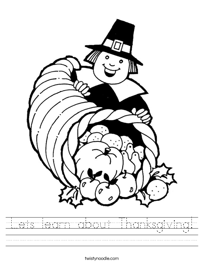 Lets learn about Thanksgiving! Worksheet
