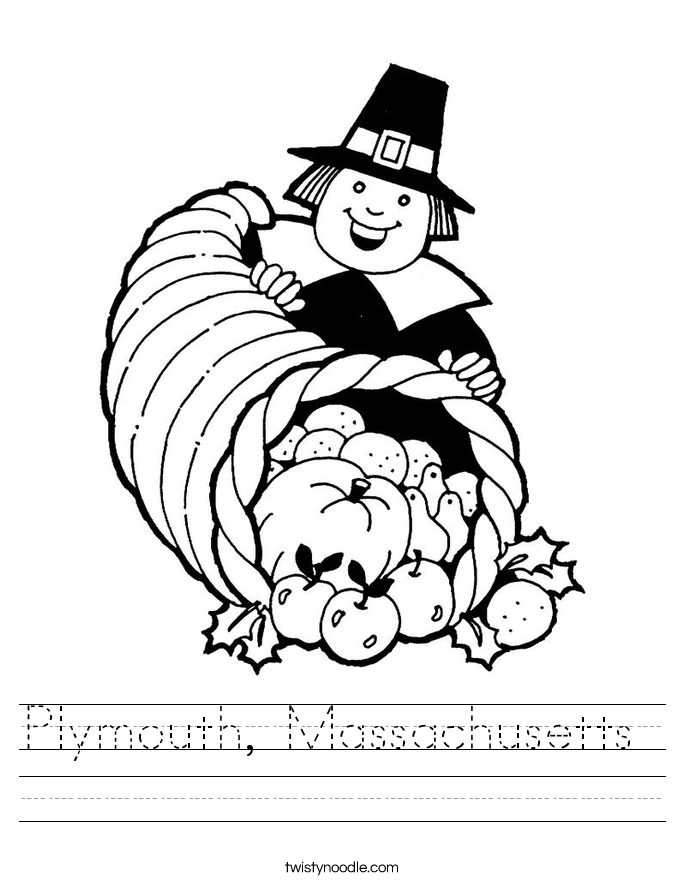 Plymouth, Massachusetts  Worksheet