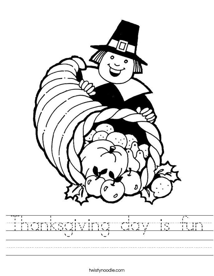 Thanksgiving day is fun Worksheet